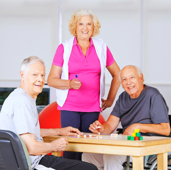elderly people doing activity