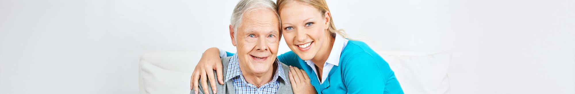 caregiver with an elderly man